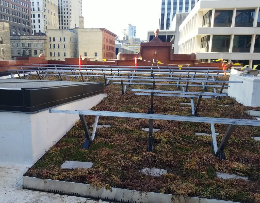 Building to Address Climate Change: The Biosolar Roof Installation at the Guardian Building